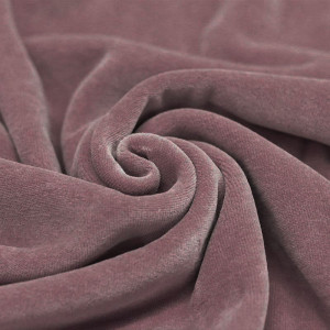 Velours nicky coloris rose ancien
