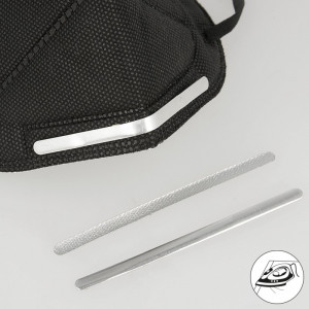 Barre de nez en métal à thermocoller thermocollant pour masque