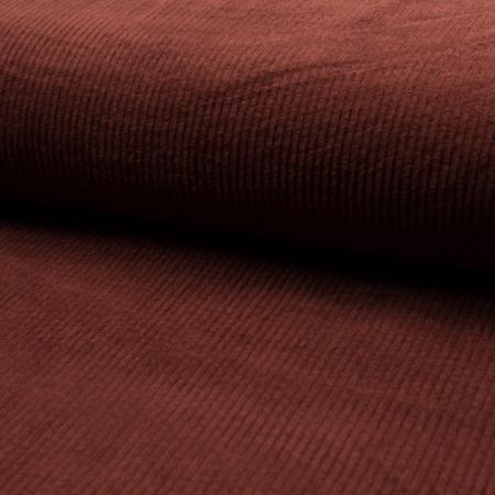 Velours grosses côtes coton coloris terre de sienne