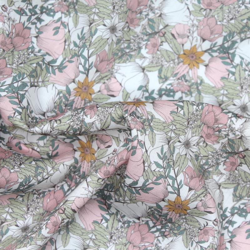 Tissu linon coton lawn cotton exlusif Liberty Batikou