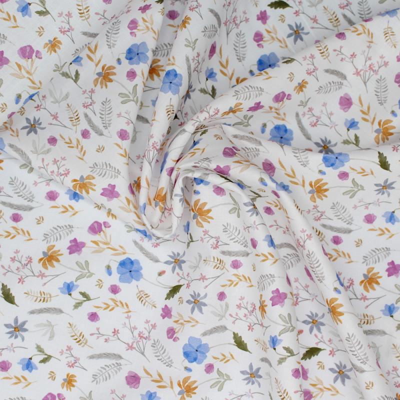 Batiste de coton imprimé fleuri SILKYNE