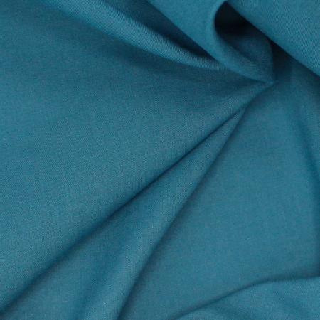 Voile de coton organique uni coloris paon