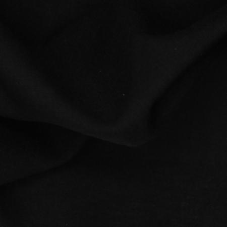 Voile de coton organique uni coloris noir