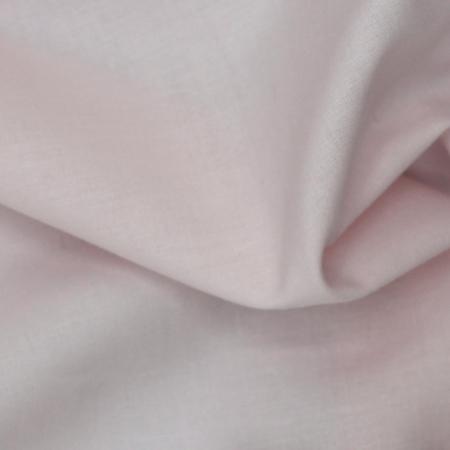 Voile de coton organique uni coloris rose poudré