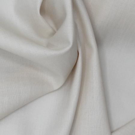 Voile de coton organique uni coloris crème