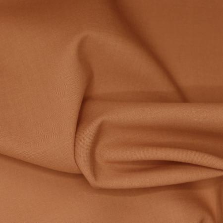 Voile de coton organique uni coloris argile