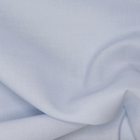 Voile de coton organique uni coloris bleu poudré