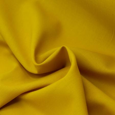 Voile de coton organique uni coloris moutarde