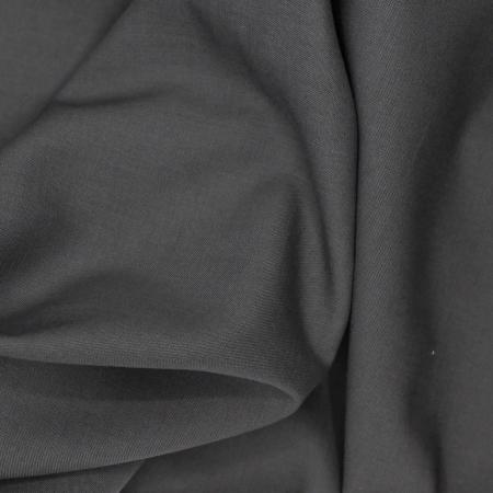 Voile de coton organique uni coloris acier