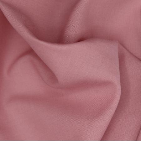 Voile de coton organique uni coloris rose blush