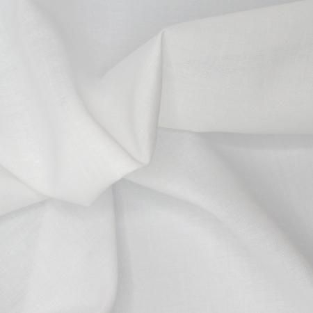 Voile de coton organique uni coloris blanc