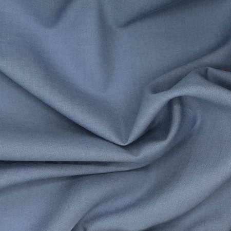 Voile de coton organique uni coloris bleu vénitien