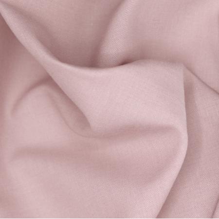Voile de coton organique uni coloris vieux rose