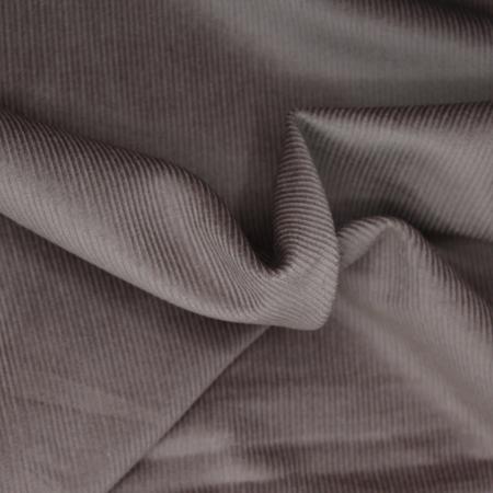 Velours milleraies coton organique coloris taupe