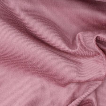 Velours milleraies coton organique coloris vieux rose