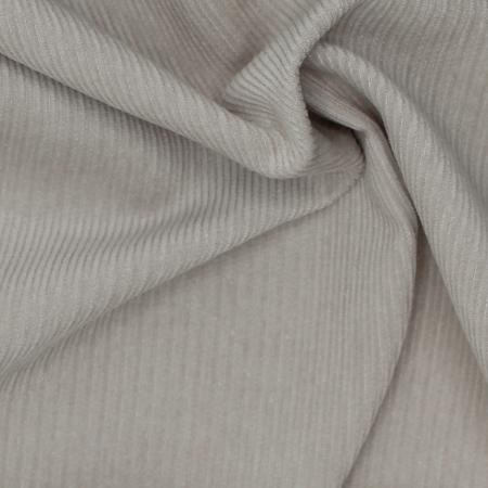 Velours milleraies coton organique coloris grège