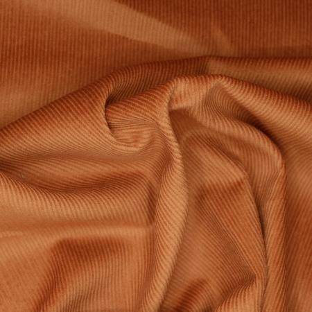 Velours milleraies coton organique coloris écureuil