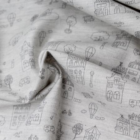 Tissu twill de coton organique imprimé