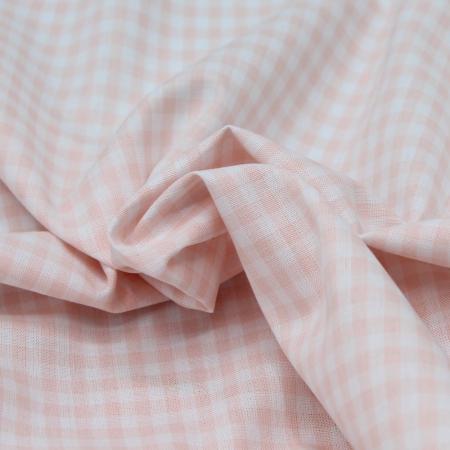 Coton vichy carreaux nude et blanc 5mm
