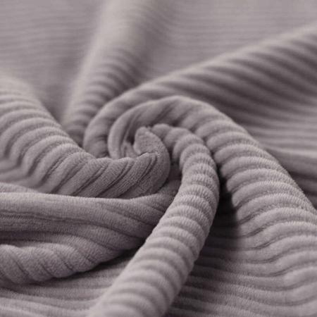 Velours jersey grosses côtes coton coloris gris