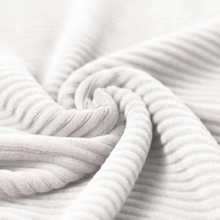 Velours jersey grosses côtes coton coloris lait