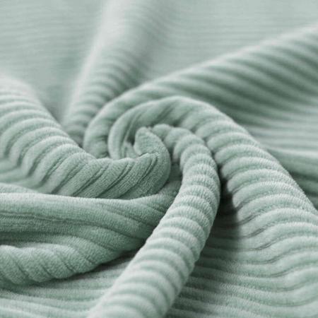 Velours jersey grosses côtes coton coloris vert opaline