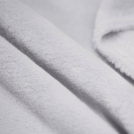 Polaire doudou coloris gris clair