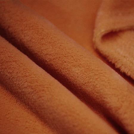 Polaire doudou coloris roux