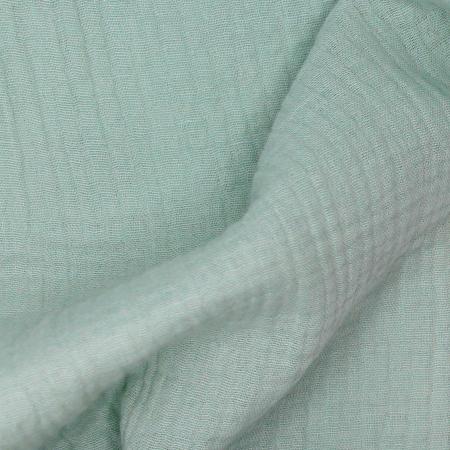 Double gaze de coton BIO unie vert opaline