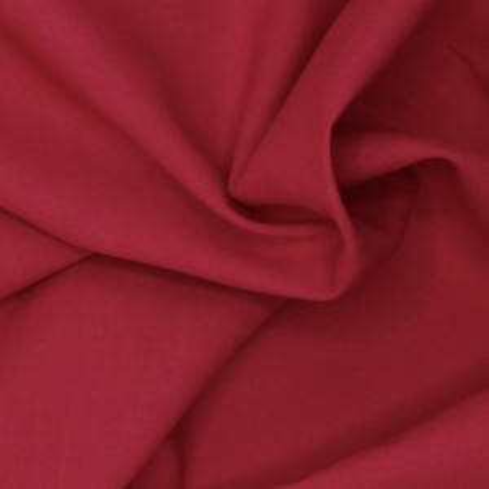 Voile de coton organique uni coloris rouge cerise