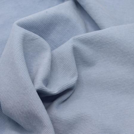 Velours milleraies coton organique coloris BLEU clair