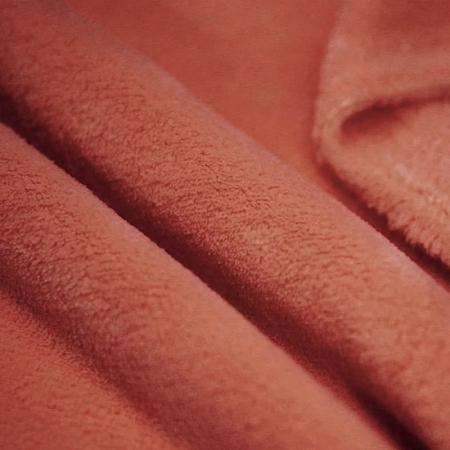Polaire doudou coloris terracotta