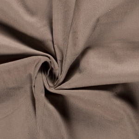 Velours milleraies coton coloris marron glacé