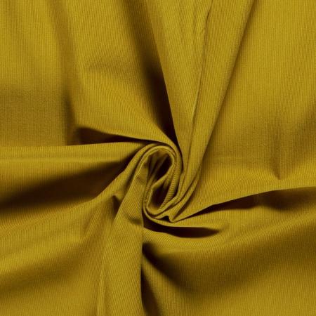 Velours milleraies coton coloris moutarde savora