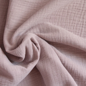 Double gaze de coton rose ancien