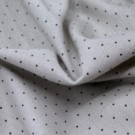 Coton texturé/ viscose Jacquard imprimé pois / scintillant