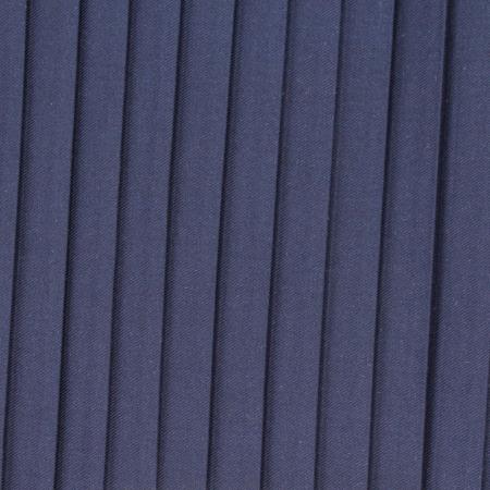 Tissu mélangé coton plissé SOLEIL coloris bleu marine