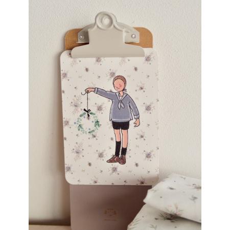 Carte postale Celestine & Cie x Batikou Motif Josephine gris