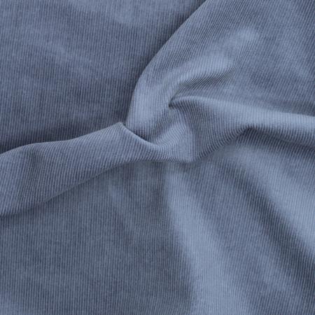 Velours milleraies coton organique coloris bleu denim