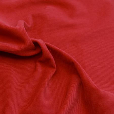 Velours milleraies coton organique coloris rouge hermès