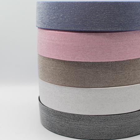 Elastique ceinture souple 40mm métallisé x 1m