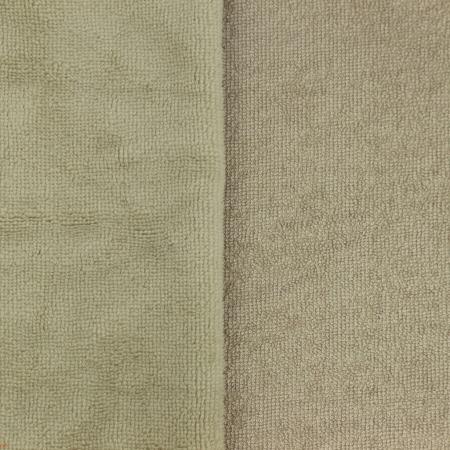 Eponge bambou / coton doudou coloris taupe