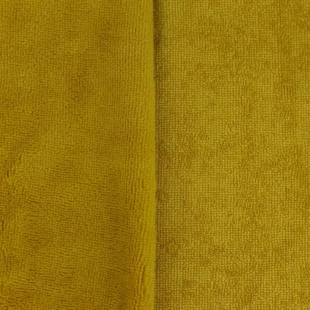 Eponge bambou / coton doudou coloris moutarde