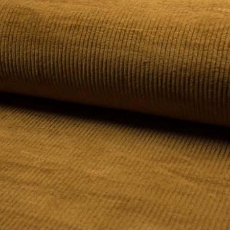 Velours grosses côtes coton coloris ocre