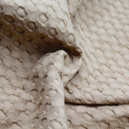 Coton nid d'abeille XL coloris beige