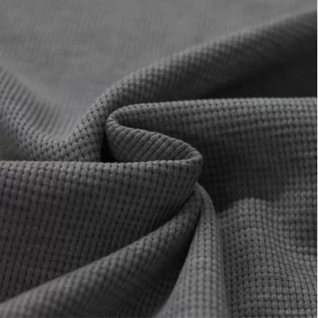 Jersey gaufré coloris gris anthracite chiné