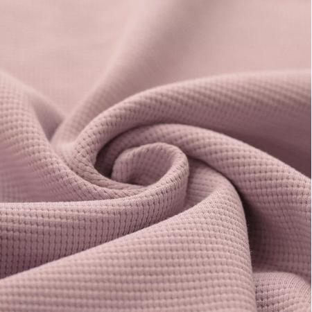 Jersey gaufré coloris rose nude