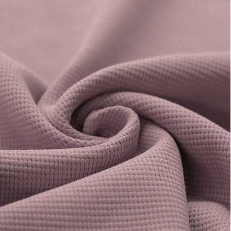 Jersey gaufré coloris rose ancien