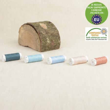 Fil à coudre polyester 200m (60 coloris au choix)
