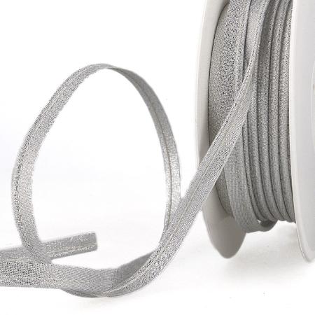 Passepoil à coudre métallisé ARGENT x 1m